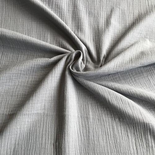 Grey Double Cotton Gauze 1.16m Remnant
