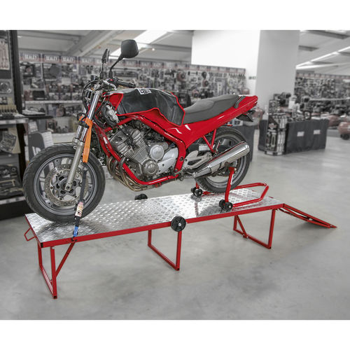 Motorcycle Portable Folding Workbench 360kg Capacity - Sealey - MCW360