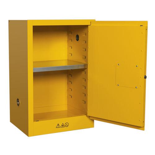 Flammables Storage Cabinet 585 x 455 x 890mm - Sealey - FSC07