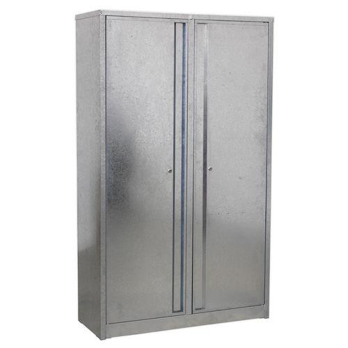 Galvanized Steel Floor Cabinet 4 Shelf Extra-Wide - Sealey - GSC110385