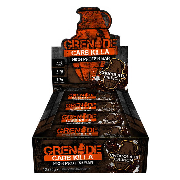 12x Chocolate Crunch Grenade Carb Killa Bars