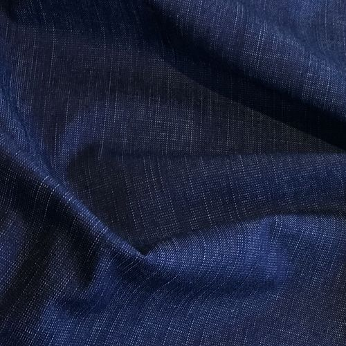 Barkweave Blue Stretch Denim 1.07m Remnant