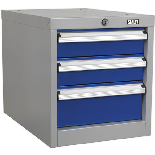 Industrial Triple Drawer Unit for API Series Workbenches - Sealey - API16