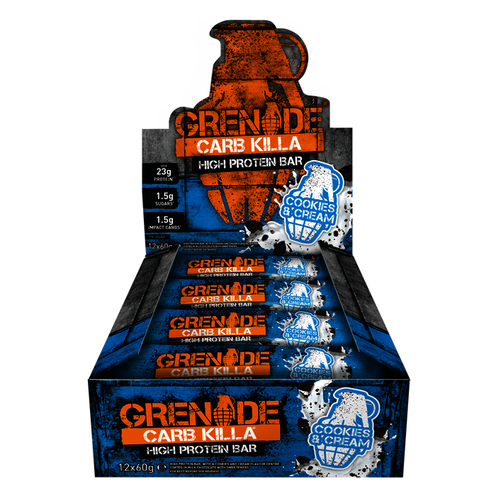 12 x Cookies and Cream Grenade Carb Killa Bars