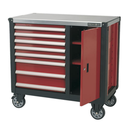 Mobile Workstation 8 Drawer with Ball Bearing Slides - Sealey - AP2418