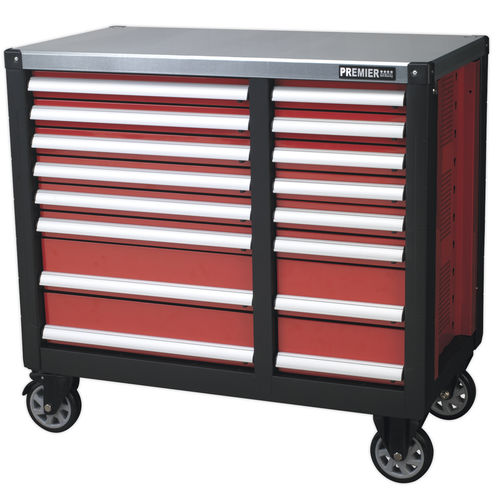 Mobile Workstation 16 Drawer with Ball Bearing Slides - Sealey - AP24216