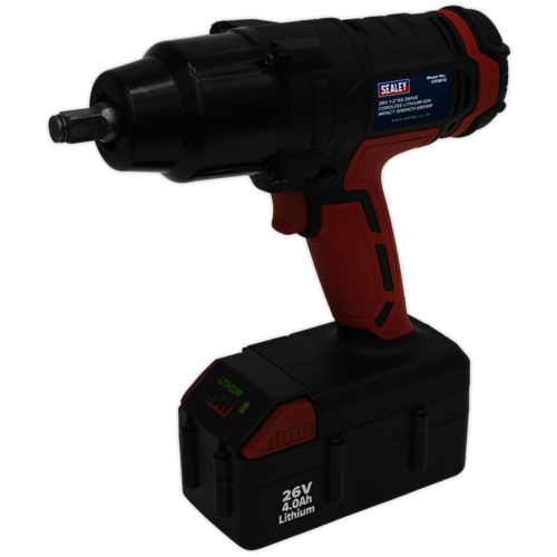 "Cordless Impact Wrench 26V Lithium-ion 1/2""Sq Drive 680Nm - Sealey - CP2612"