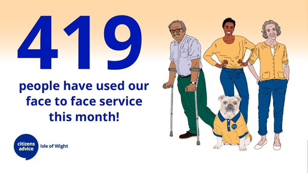 419 Clients Have Used Our Face To Face Service This Month!