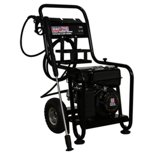 Pressure Washer 220bar 600ltr/hr 6.5hp Petrol - Sealey - PWM2500