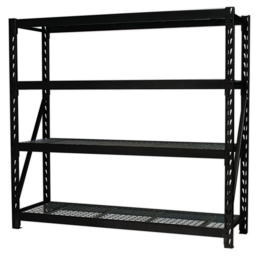 Heavy-Duty Racking Unit with 4 Mesh Shelves 640kg Capacity Per Level 1956mm - Sealey - AP6572