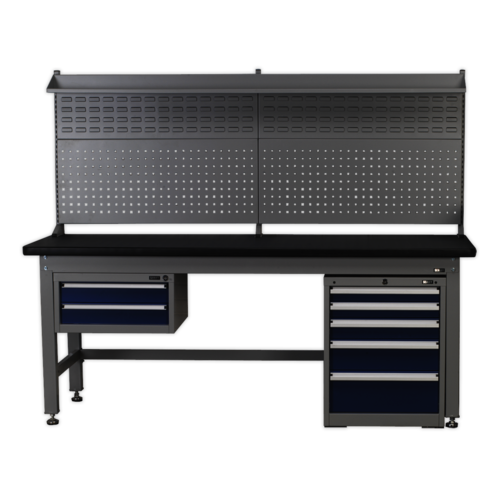 1.8mtr Complete Industrial Workstation & Cabinet Combo - Sealey - API1800COMB02