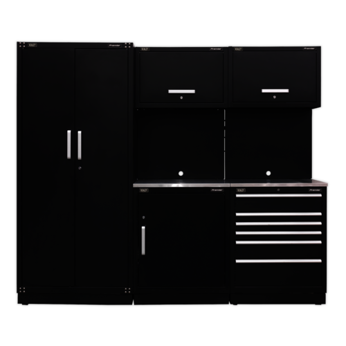 Modular Storage System Combo - Stainless Steel Worktop - Sealey - APMSCOMBO1SS