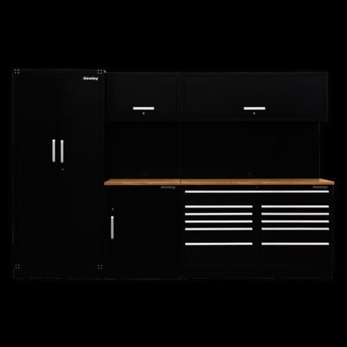 Modular Storage System Combo - Oak Worktop - Sealey - APMSCOMBO2SS