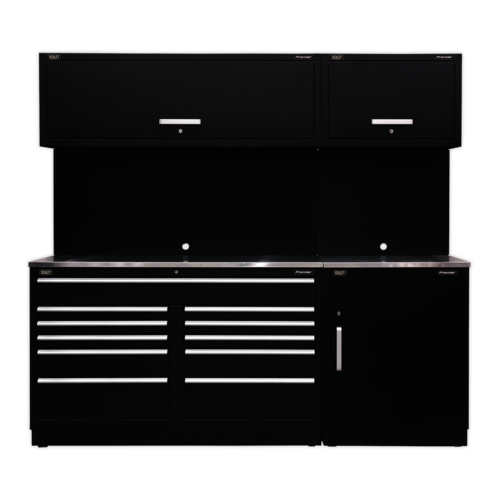 Modular Storage System Combo - Stainless Steel Worktop - Sealey - APMSCOMBO4SS