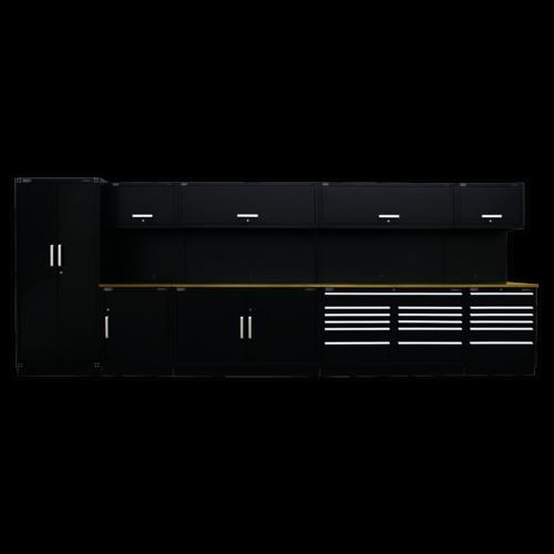 Complete Modular Workshop Storage Combination - Oak Top - Sealey - APMSOAK