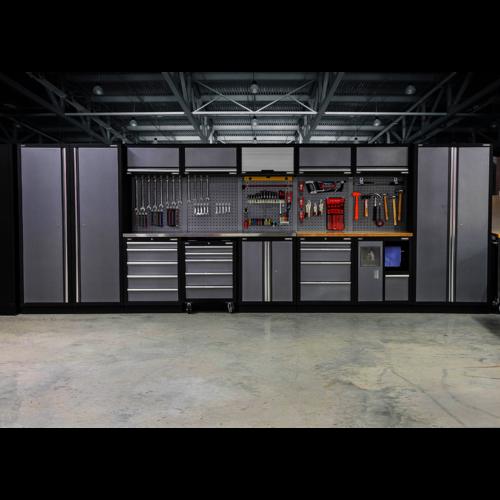 Modular Storage System Combo - Pressed Wood Worktop - Sealey - APMSSTACK01W