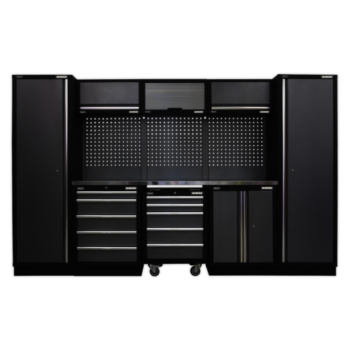 Modular Storage System Combo - Stainless Steel Worktop - Sealey - APMSSTACK03SS