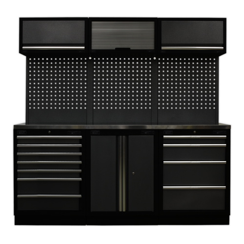 Modular Storage System Combo - Stainless Steel Worktop - Sealey - APMSSTACK07SS