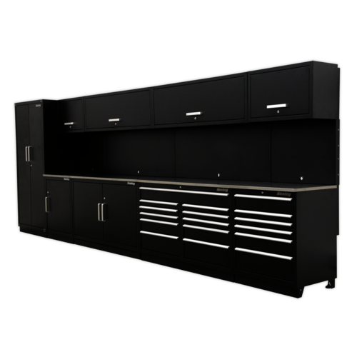 Complete Modular Workshop Storage Combination - Stainless Steel Worktop - Sealey - APMSSTEEL