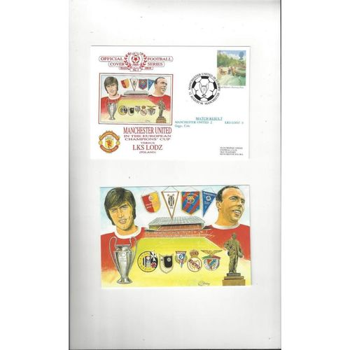 Manchester United v LKS Lodz Football First Day Cover + Insert 1998