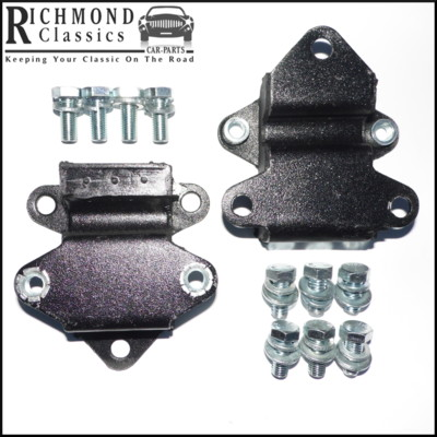 Classic Mini Engine Mountings with Captive Nuts - 21A1902 - Plus Engine Bolt Pack