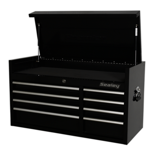Topchest 8 Drawer 1040mm Heavy-Duty Black - Sealey - PTB104008