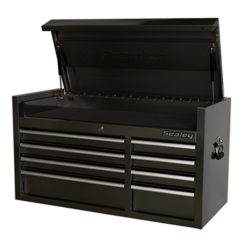 Topchest 8 Drawer 1055mm Stainless Steel Heavy-Duty - Sealey - PTB104008SS