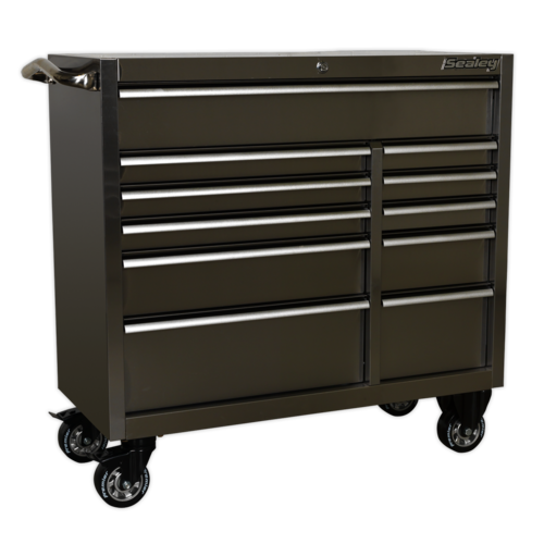 Rollcab 11 Drawer 1055mm Stainless Steel Heavy-Duty - Sealey - PTB105511SS