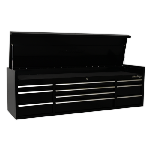 Topchest 10 Drawer 1830mm Heavy-Duty Black - Sealey - PTB181510