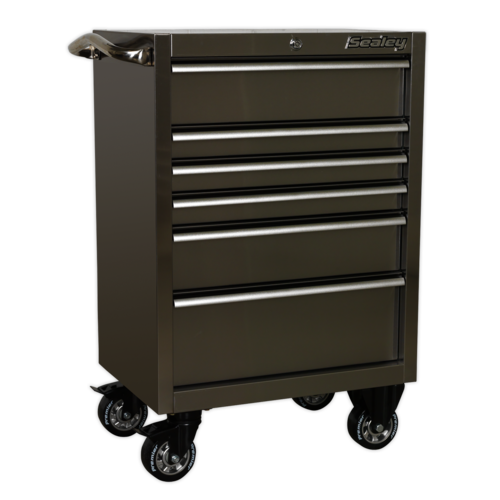 Rollcab 6 Drawer 675mm Stainless Steel Heavy-Duty - Sealey - PTB67506SS