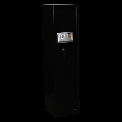 Gun Cabinet with Ammo Box & Electronic Lock 5 Gun Capacity - Sealey - SEGS5