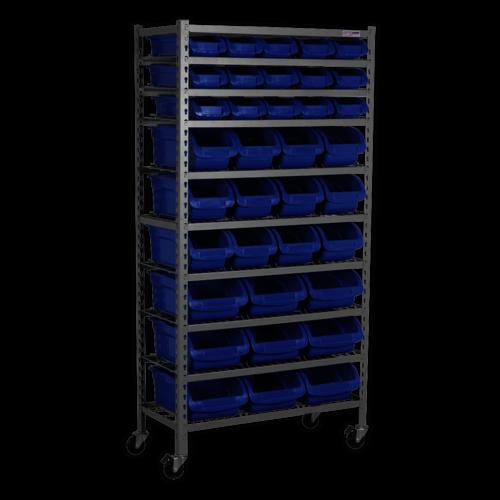 Mobile Bin Storage System 36 Bins - Sealey - TPS36