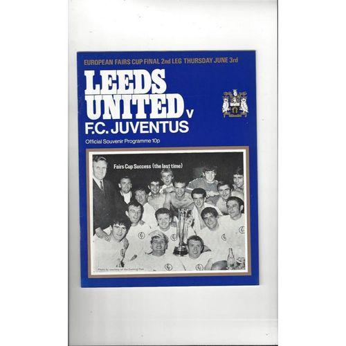 1971 Leeds United v Juventus Fairs Cup Final Football Programme