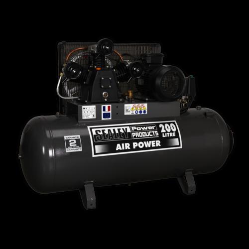 Compressor 200ltr Belt Drive 5.5hp 3ph - Sealey - SAC32055B