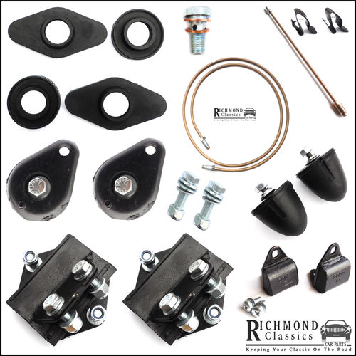 Classic Mini Front Subframe Rubber Bush Kit / Parts Kit
