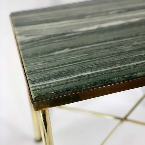 Art Deco French marble and brass occasional table