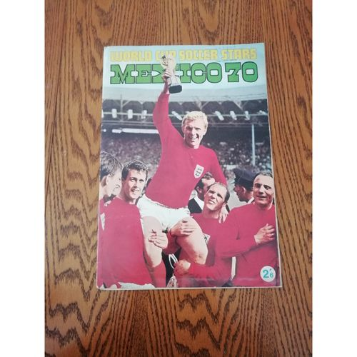 1970 Mexico World Cup FKS Soccer Stars Sticker Album Complete
