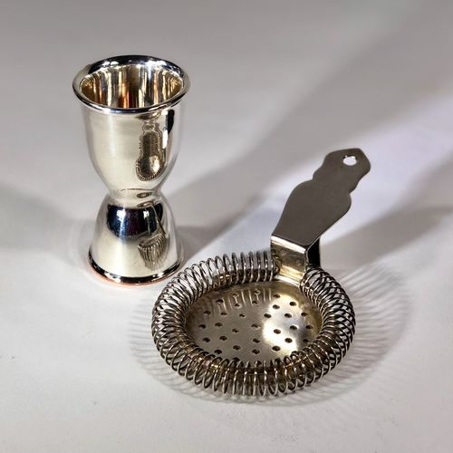 Group of excellent quality English silver plated barware