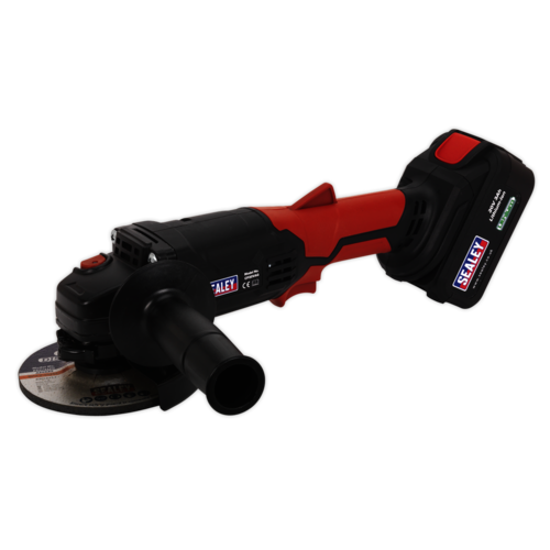 Cordless Angle Grinder Ø115mm 20V Lithium-ion 1hr Charge - Sealey - CP20VAG