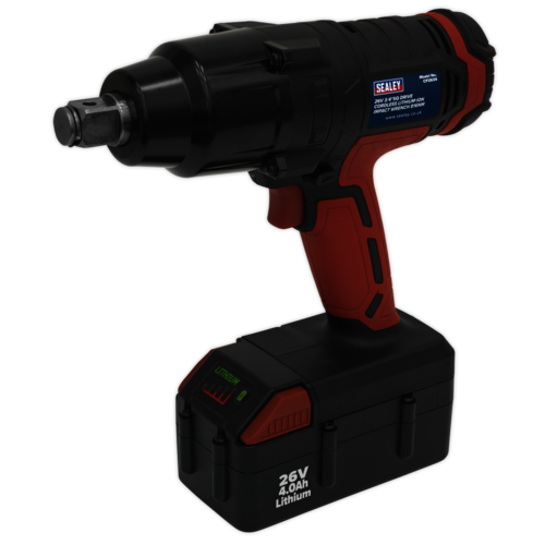 "Cordless Impact Wrench 26V Lithium-ion 3/4""Sq Drive 816Nm - Sealey - CP2634"
