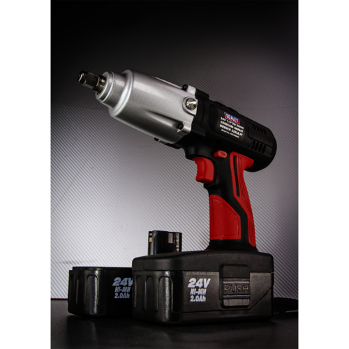 "Cordless Impact Wrench 24V 2Ah Ni-MH 1/2""Sq Drive 441Nm - Sealey - CP2400MH"