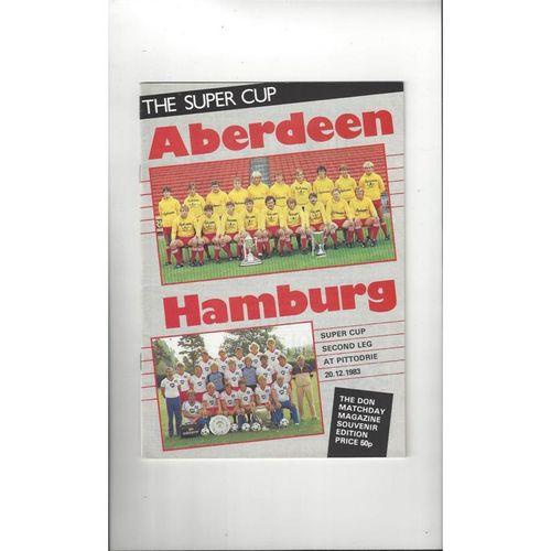 1983 Aberdeen v Hamburg European Super Cup Final Football Programme