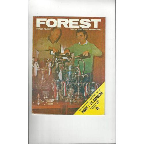 1980 Nottingham Forest v Barcelona European Super Cup Final Football Programme