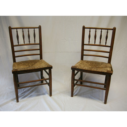 Pair of Childrens Rush Seats C.1900 - £850