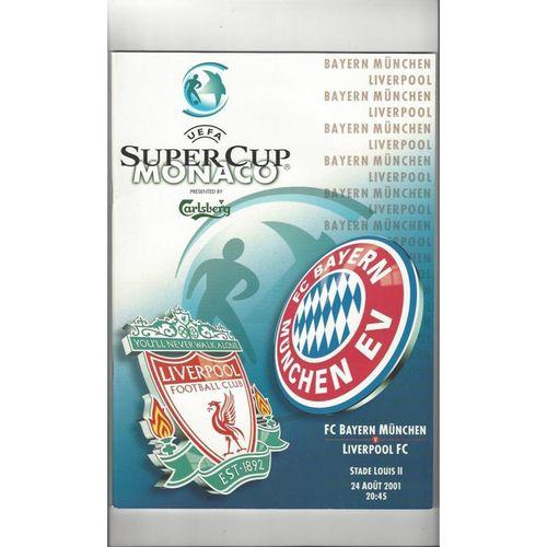 2001 Bayern Munich v Liverpool Super Cup Final Football Programme