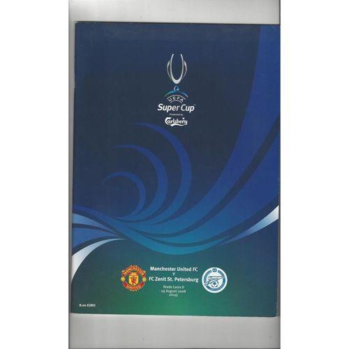 2008 Manchester United v Zenit St Petersburg Super Cup Final Football Programme