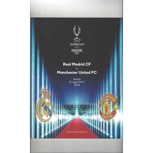 2017 Real Madrid v Manchester United European Super Cup Final Football Programme