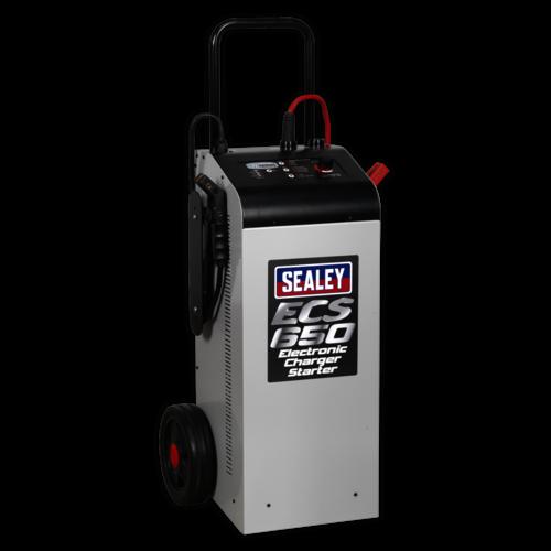 Electronic Charger Starter 100/650A 12/24V - Sealey - ECS650