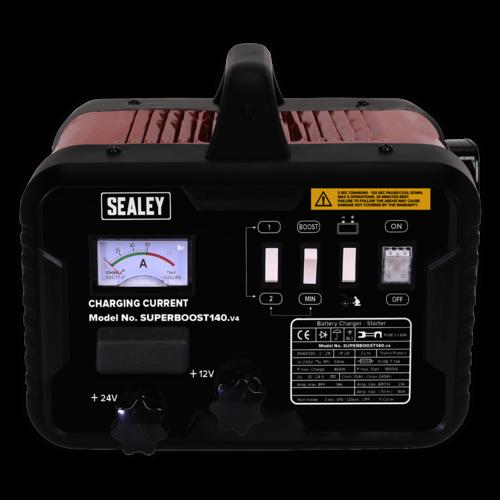 Starter/Charger 140/21Amp 12/24V 230V - Sealey - SUPERBOOST140