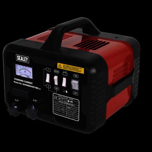 Starter/Charger 180/40Amp 12/24V 230V - Sealey - SUPERBOOST180